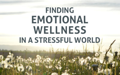 Finding Emotional Wellness in a Stressful World: Mon 10 Oct, Tue 11 Oct 6:30pm-9pm (PE)
