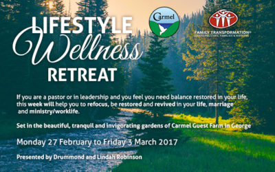 Lifestyle Wellness Retreat 2017 : 27 February – 3 March (REVISED DATES)