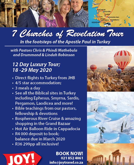 Travel with us and JOY! to Turkey in May 2020